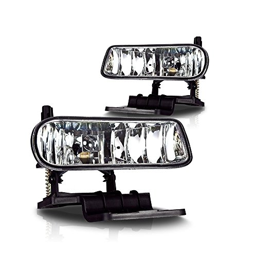 AVEC AV-Sil99 Products Chevy Tahoe OEM Fog Lights, Clear Lens, Pair (Silverado 2000 Fog Lights compare prices)