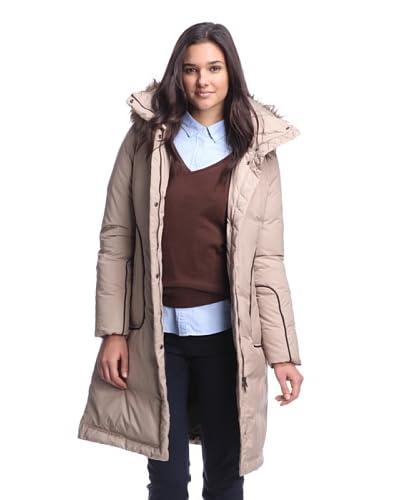 Soia & Kyo Women's Down Coat with Faux Fur Trim  [Camel]