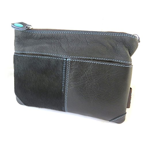 Borsa custodia in pelle 'Gabs'nero - 24x18x3 cm.