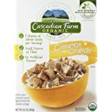 Cascadian Farm, Organic, Cinnamon Crunch Cereal, 9.2oz Box (Pack Of 2)