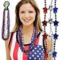 Metalic Patriotic Necklace (1 dozen) - Bulk