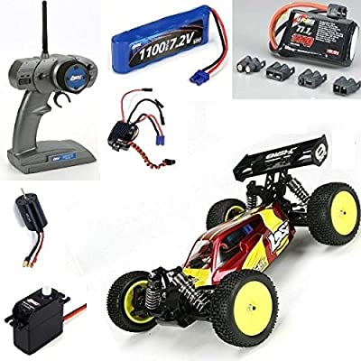 (Ship from USA) Losi RED Mini 8IGHT 1/14 4WD Brushless Buggy RTR w/ FREE 3S Lipo Battery