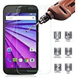 Moto G (3rd Gen) Tempered Glass Screen Protector, PLESON® Motorola Moto G 3rd Generation Screen Protector [Lifetime No-Hassle Warranty] 0.3mm Premium HD Clear Glass Screen Protector for Moto G3