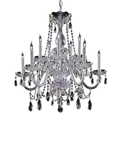 Gold Coast Lighting Traditional Crystal Chandelier, Polished Chrome