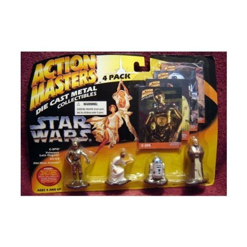 Star Wars Action Masters 4 pack with C-3PO R2-D2 Leia and Obi Wan Kenobi (Die Cast Star Wars Kit compare prices)