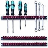 Parat 802.000-981  Werkzeughalter / Klammer-Leisten-Set schwarz/rot