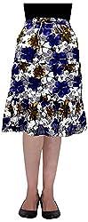 Cotton Breeze Women's A-line Skirt (Blue)