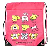 Carrots Girl's Bang Dog Head Draw String Bag - Pink