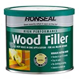 Ronseal 35302 High Performance Wood Filler Natural 275Gm Pack Of 3