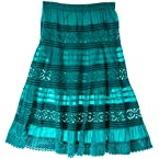 Teal Prairie Skirt