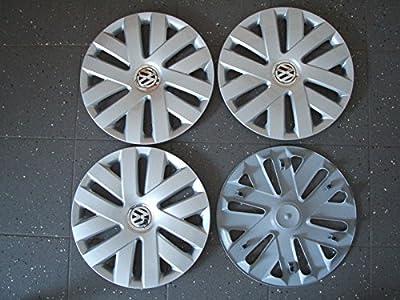 4 Original Radkappen mit CLIPS 15 Zoll VW Polo 6J x 15 ET38 6R0601147C von VW - Reifen Onlineshop