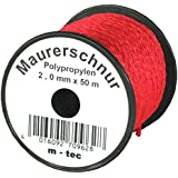 LOT-MAURERSCHNUR 50 m x Ø 2.0 mm ROT