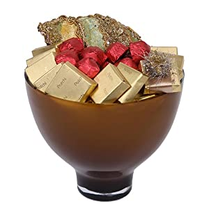 Holiday Style: Holiday Chocolate Arrangement in Gold Vase