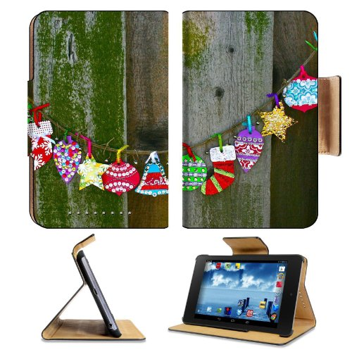 Christmas Streamers Rustic Holiday Wood Google Nexus 7 Flip Case Stand Magnetic Cover Open Ports Customized Made To Order Support Ready Premium Deluxe Pu Leather 7 7/8 Inch (200Mm) X 5 Inch (127Mm) X 11/16 Inch (17Mm) Msd Nexus 7 Professional Nexus7 Cases
