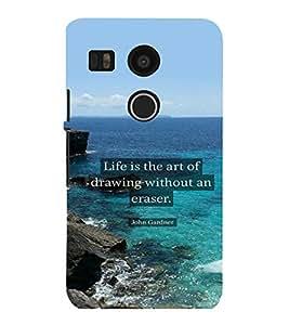 printtech Cool Quotes Life Back Case Cover for LG Google Nexus 5X::LG Google Nexus 5X (2nd Gen)