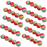 50pcs Golf Rainbow Balls Swing Training Aids Indoor Practice Sponge Foam Golf Accessories