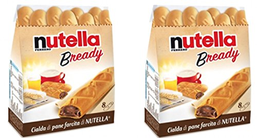 "Ferrero: ""Nutella B-ready "" a crisp wafer of bread in the form of mini - baguette stuffed with a creamy Nutella * 8 pieces * 5.39 oz (153g) * Pack of 2 [ Italian Import ]"