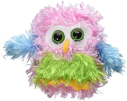 "Ganz 4.5"" Whoorah Hoots Plush Toy, Light Pink - 1"