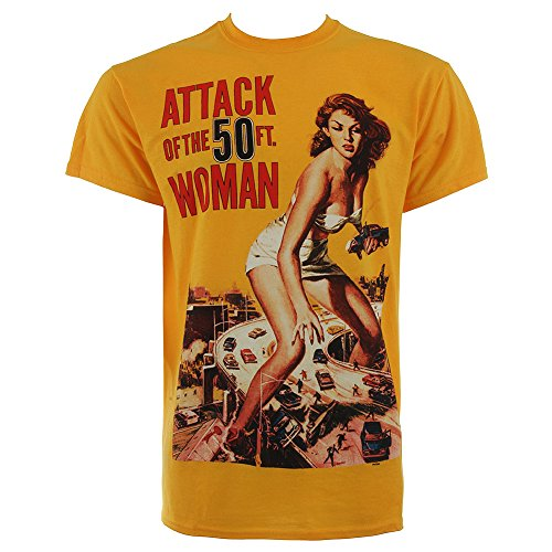 T Shirt Attack Of The 50ft Woman (Giallo) - X-Large
