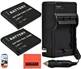 Big Mike'S 2 Pack Of Nb-8L Replacement Batteries & Battery Charger Kit For Canon Powershot A2200 Is A3000 Is A3100 Is A3300 Isdigital Camera Includes Battery + Ac/Dc Battery Charger + Lcd Screen Protectors + Cleaning Cloth