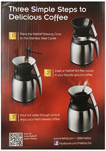 German Pour Over Coffee Maker : Melitta Coffee Maker, 10 Cup Pour- Over Brewer with Stainless Thermal Carafe , N eBay