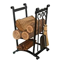 Enclume Design Compact Curved Log Rack w...