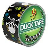Duck Brand 280422 Skulls Printed Duct Tape, Black/Multicolor, 1.88-Inch by 10 Yards, Single Roll