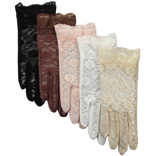 Warmen Sexy Lace Uv Protection Sun Block Dressing Driving Wedding Bridal Gloves
