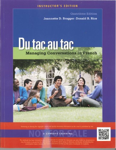 du tac au tac managing conversations in french pdf