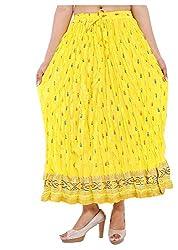 Magnus Women's Long Skirt (SKT466, Yellow, S)