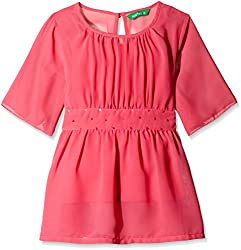 Palm Tree Baby Girls' Blouse (132031168575 1367_Pink_12-18 Months)