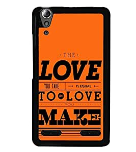 printtech Love Make Back Case Cover for Huawei Honor 6 Plus ,