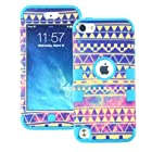 MagicSky PC + Silicone Galaxy Tribal Pattern Case for Apple iPod Touch 5 5th Generation - 1 Pack - Retail Packaging - Blue