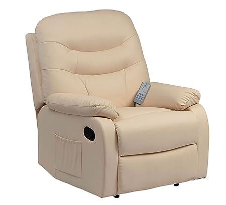 Hebden Massage Manual Reclining Chair (Cream)