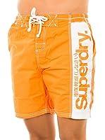 Superdry Short de Baño (Naranja)
