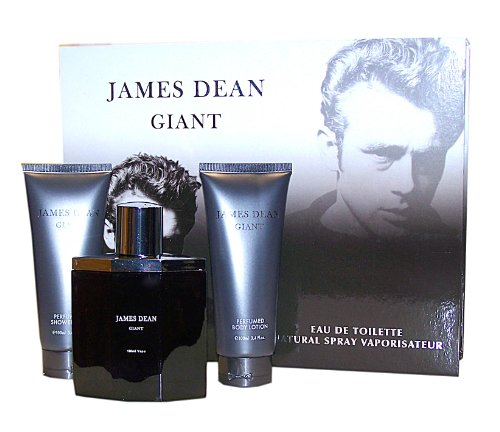 JAMES DEAN Giant 3 tlg. Geschenkset, Inhalt: Shower Gel 100 ml + Eau de Toilette Spray 100 ml + Body Lotion 100 ml
