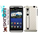 Skinomi TechSkin - Silver Carbon Fiber Film Shield & Screen Protector for LG Optimus 3D