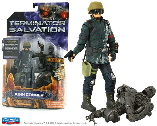 Picture of Topps Trading Cards Topps Terminator Salvation John Connor With T-600 Torso Six Inch Action Figure (B002AXGMDO) (Topps Trading Cards Action Figures)