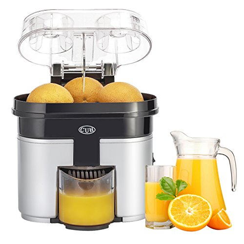 cuh-90w-double-orange-citrus-juicer-with-pulp-separator-whisper-and-built-in-slicer-silver-black