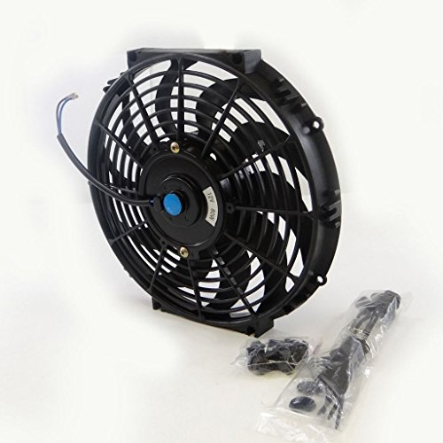 Universal 16 inch 12 volt slim fan push pull electric for 12 volt electric fan motor