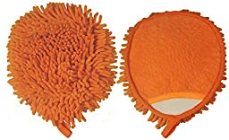Golden Star MITTSOC Chenille Duster Mitt, Orange (Pack of 12)
