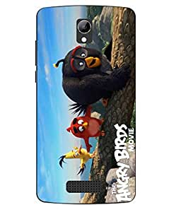 Case Cover Angry Bird Printed Colorful Soft Back Cover For LYF WIND 3