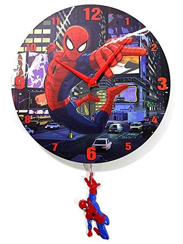 Marvel(マーベル) Spider-man(スパイダーマン) 振り子付壁掛け時計 [並行輸入品]