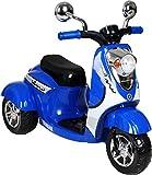 Yamaha Vino Retro 3-Wheel Scooter 6V Battery-Powered Ride-On, Blue