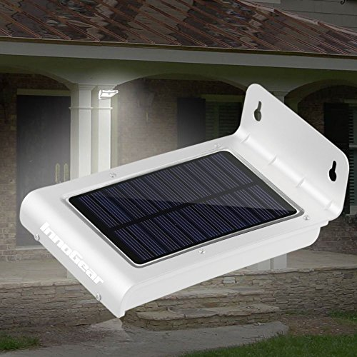 waterproof solar powered fence post light motion sensor outdoor ebay