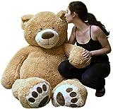 Big Plush Giant Teddy Bear Five Feet Tall Tan Color Soft Smiling Big Teddybear 5 Foot Bear