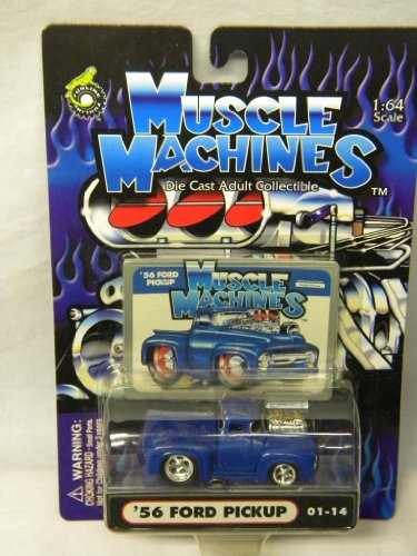 Muscle Machines 1:64 Scale '56 Ford Pickup Blue #01-14 - 1