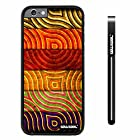 CowCool® Apple iphone 6 4.7 inch Case Hard PC retro Stripe Texture Black Shell Single Layer Protective Case (Style2)