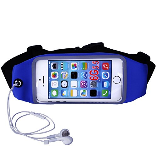 Running Belt Waist Pack ,FONTAR Sweatproof Belt Waist Bag for iPhone 6/6s with Clear Touch Screen Window - Workouts, Cycling, Hiking, Walking, Running, Fitness (Earphone not included)