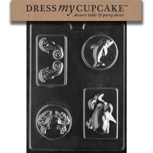Dress My Cupcake Dmcn049 Chocolate Candy Mold, Sea Creatures Bar, Nautical front-513129